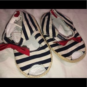 Like NEW- worn once baby sailor slip-ons❤️💙.